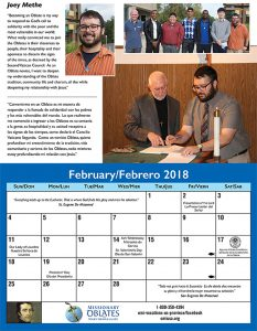 February Vocation Calendar