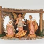 4 Piece Nativity with Resin Stable