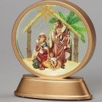 Lighted Holy Family Disk