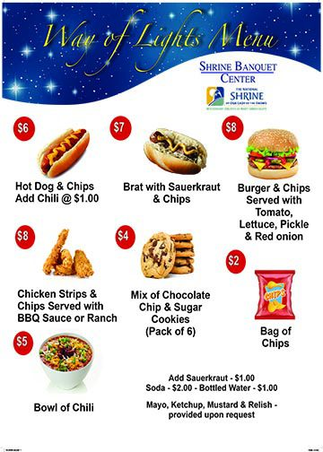 Click to view the Way of Lights Menu