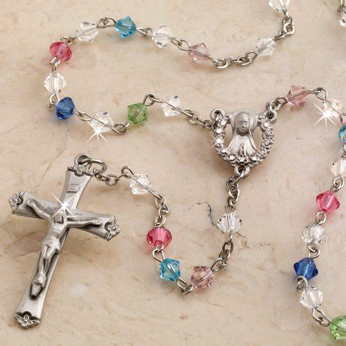 507986 Gentle Mother Swarovski Rosary